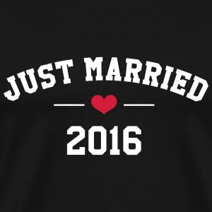 Just Married 2016 -  Wedding Tee shirts - T-shirt Premium Homme