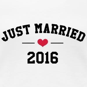 Just Married 2016 -  Wedding T-shirts - Dame premium T-shirt