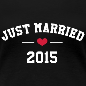 Just Married 2015 -  Wedding T-Shirts - Frauen Premium T-Shirt