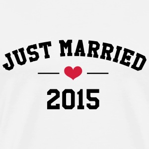 Just Married 2015 -  Wedding T-Shirts - Men's Premium T-Shirt