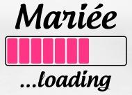 Mariée loading Tee shirts , T,shirt Premium Femme