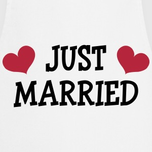 Just Married - Wedding  Aprons - Cooking Apron
