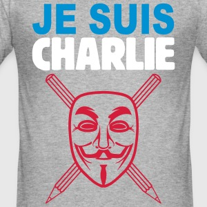 je suis charlie anonymous Tee shirts - Tee shirt près du corps Homme
