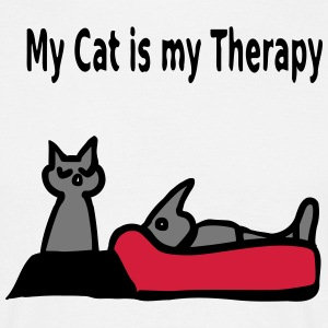 My Cat is my Therapy T-Shirts - Men's T-Shirt