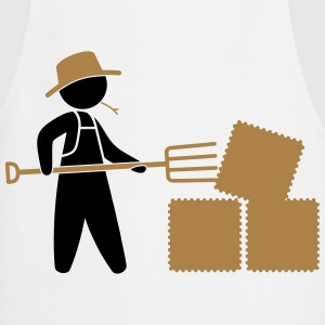 Bauer sorted hay bale with pitchfork  Aprons - Cooking Apron