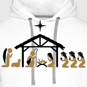 Nativity on Christmas Eve Hoodies & Sweatshirts - Men's Premium Hoodie