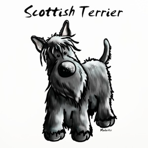 Cute Scottish Terrier Mugs & Drinkware - Coasters (set of 4)