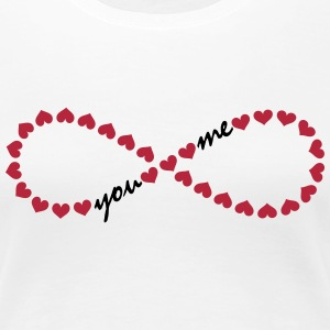 You and me! Forever Love, Heart, Valentine's Day,  Tee shirts - T-shirt Premium Femme