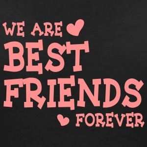 we are best friends forever ii 1c T-shirts - Dame-T-shirt med V-udskæring