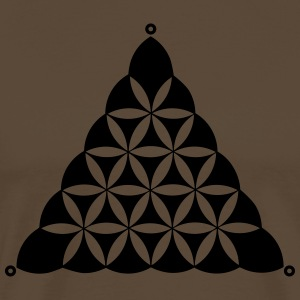 Crop circle, Flower Of Life, Triangle, Waden Hill T-shirts - Mannen Premium T-shirt