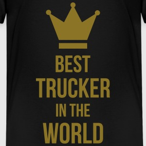 Best Trucker in the World T-shirts - Børne premium T-shirt