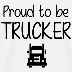 Proud to be Trucker T-shirts - Herre premium T-shirt