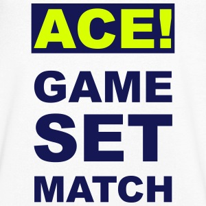 ACE! GAME SET MATCH T-Shirts - Men's V-Neck T-Shirt