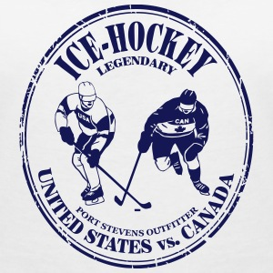eishockey - ice hockey - kanada - usa T-shirts - Vrouwen T-shirt met V-hals