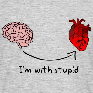 I'm with stupid Tee shirts - T-shirt Homme