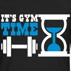 Bodybuiling - It's gym time Skjorter med lange armer - Premium langermet T-skjorte for menn