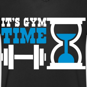 Bodybuiling - It's gym time Camisetas - Camiseta de pico hombre