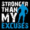Stronger than my excuses T-shirts - Vrouwen Premium T-shirt