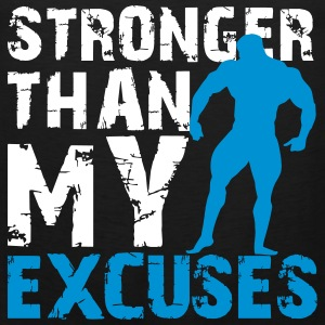 Stronger than my excuses Tanktops - Mannen Premium tank top