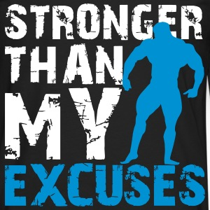 Stronger than my excuses Manches longues - T-shirt manches longues Premium Homme
