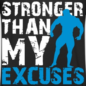 Stronger than my excuses T-shirts - T-shirt med v-ringning herr
