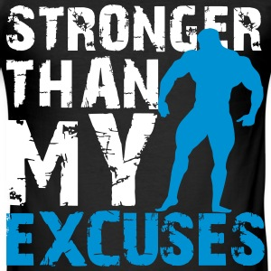 Stronger than my excuses T-skjorter - Slim Fit T-skjorte for menn