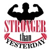 Stronger than yesterday Tank Tops - Männer Premium Tank Top