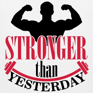 Stronger than yesterday Tank Tops - Herre Premium tanktop
