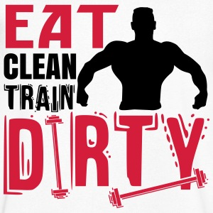 Eat clean, train dirty Koszulki - Koszulka męska Canvas z dekoltem w serek
