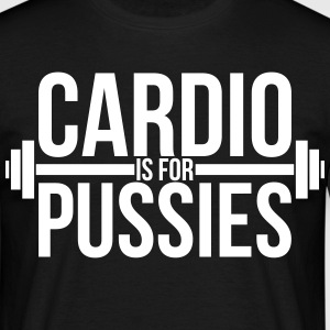 Cardio is for pussies T-shirts - Herre-T-shirt