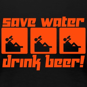 Save Water Drink Beer! (Vector) - Frauen Premium T-Shirt