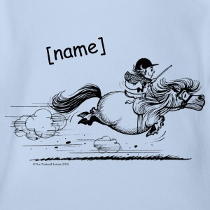 Pony rent Thelwell Cartoon Shirts - Baby bio-rompertje met korte mouwen