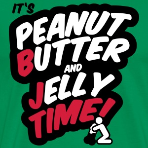 Peanut butter and jelly time, blowjob T-Shirts - Men's Premium T-Shirt