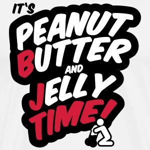 Peanut butter and jelly time, blowjob T-shirts - Herre premium T-shirt