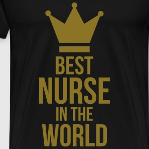 Best Nurse in the World T-shirts - Herre premium T-shirt