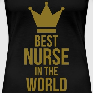 Best Nurse in the World Koszulki - Koszulka damska Premium