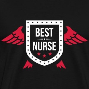 Best Nurse T-skjorter - Premium T-skjorte for menn