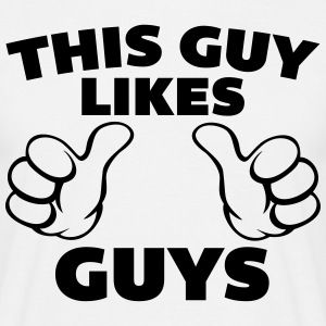 This Guy Likes Guys T-shirts - Mannen T-shirt