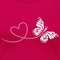 Butterfly in Love, Heart, Spring, Valentine's Day,