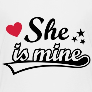 She's mine Amo a mi novia love girlfriend Amor   Camisetas - Camiseta premium adolescente