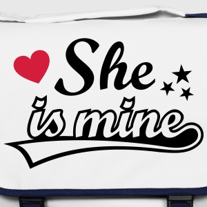 She's mine Love girlfriend. Valentine's Day gifts  Bags & Backpacks - Shoulder Bag