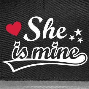 She's mine I love you my Girlfriend Ich liebe Dich Caps & Mützen - Snapback Cap