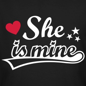 She's mine Love girlfriend. Valentine's Day gifts  T-Shirts - Men's Organic T-shirt