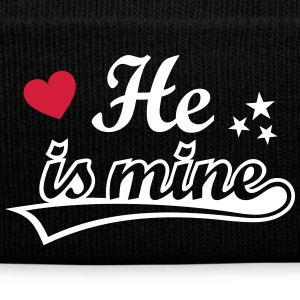 He is mine I love you my Boyfriend Ich liebe Dich Caps & Mützen - Wintermütze