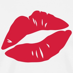 Kissing Lips, Valentines Day, Love, Kiss, Mouth T-Shirts - Men's Premium T-Shirt