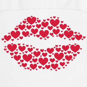 Kiss, lips, hearts, Valentines Day, Love, Kissing Fartuchy - Fartuch kuchenny