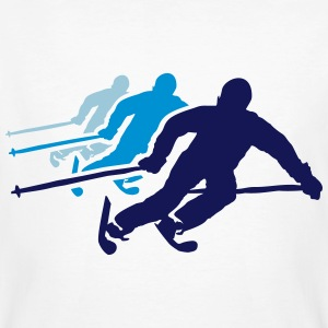 ski resort skies ski area skiing T-Shirts - Men's Organic T-shirt