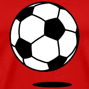 football with shadow / ball with shadow 2c T-Shirts - Männer Premium T-Shirt