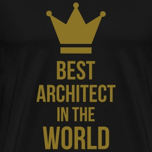 Best Architect in the World Camisetas - Camiseta premium hombre