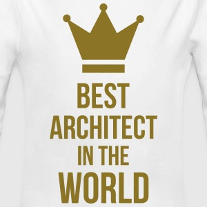 Best Architect in the World Gensere - Økologisk langermet baby-body